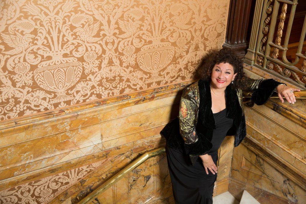 Sharon Azrieli poses for a photoshoot