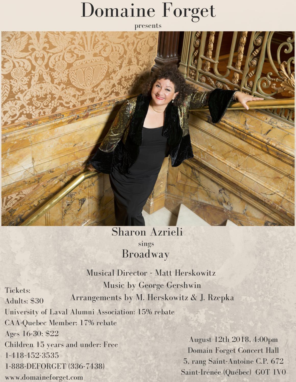 Sharon Azrieli sings Broadway